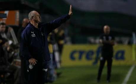 Felipão na vitória do Palmeiras sobre o Santos na noite deste sábado (Foto: Divulgação/ Flickr)