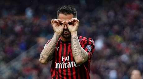 Suso marcou o segundo gol do Milan (Foto: Divulgação/Twitter Milan)