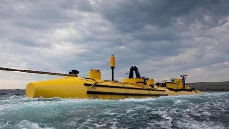 Na ilha de Eday, o Centro Europeu de Energia Marinha testa novas turbinas de maré em meio às águas agitadas