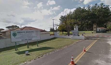 Entrada do 28º Batalhão de Infantaria Leve, em Campinas, interior de São Paulo