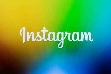 Tela mostra logotipo do Instagram durante apresentação em nova York. 12/12/2013. REUTERS/Lucas Jackson