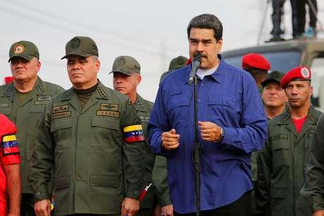 Maduro, em cerimônia em base militar em Maracay, Venezuela 17/5/2019 Palácio Miraflores/via REUTERS