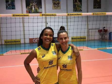 Amanda e Macris voltam a atuar em Brasília (Divulgação CBV)