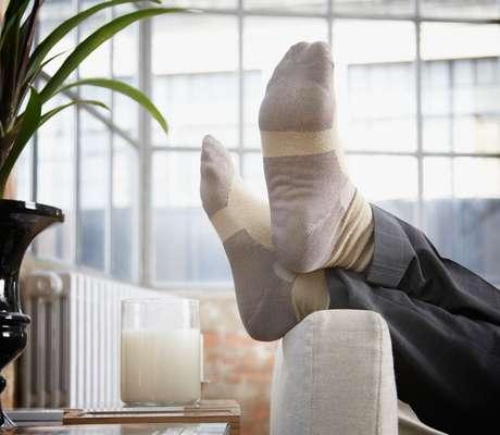 Nosso pés se acostumaram com menos movimento