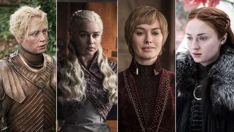 As personagens Brienne de Tarth, Daenerys Targaryen, Cersei Lannister e Sansa Stark; tempo de fala feminino é bastante vinferior ao masculino na série