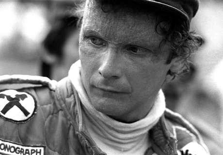 O ex-piloto austríaco Niki Lauda, em 1977