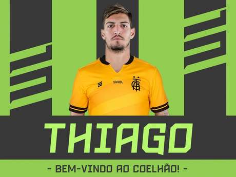 Thiago vai ganhar rodagem no Co;elho jogando a Série B do Brasileiro- (Divulgação/América-MG)