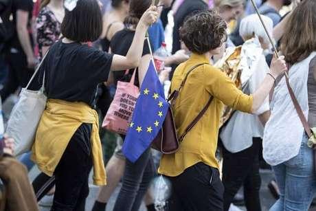 Manifestação pró-Europa em Munique, na Alemanha