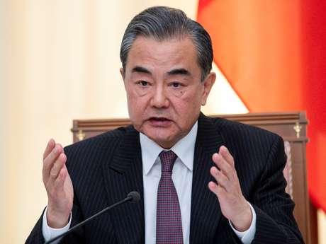 Chanceler da China, Wang Yi 13/05/2019 Pavel Golovkin/Pool via REUTERS