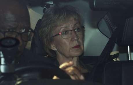 Andrea Leadsom, ministra do governo da primeira-ministra britânica, Theresa May, é vista fora do Parlamento em Londres. 22/5/2019.  REUTERS/Hannah McKay