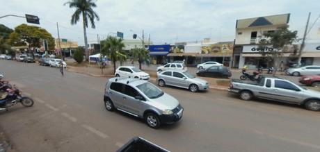 Imagem do centro de Parcatu (MG), cidade onde ocorreu o crime