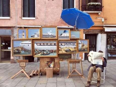 Instalação de Banksy em Veneza, na Itália