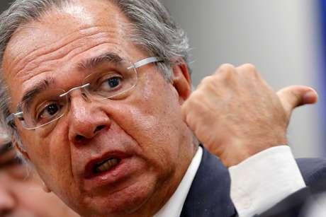 Ministro da Econonia, Paulo Guedes, durante audiência na Câmara dos Deputados 14/05/2019 REUTERS/Adriano Machado