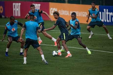 Treino da Seleção Brasileira na Granja Comary