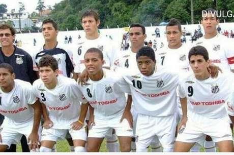 Marinho atuou com Neymar e Rafael Cabral na base do Santos, há 11 anos (Reprodução)