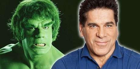 Hulk e seu intérprete na série cultuada: ambos têm fãs de várias gerações