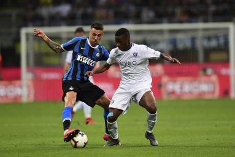 Inter e Empoli fizeram um duelo tenso na última rodada do Campeonato Italiano (Miguel MEDINA/AFP)