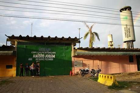 Fachada do complexo Penitenciário Anísio Jobim (Compaj) em Manaus (AM)