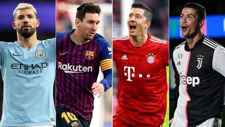 Manchester City, Barcelona, Bayern de Munique e juventus foram campeãs em suas ligas (Foto: Reprodução)