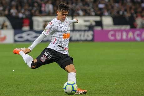 Fagner durante a partida entre Corinthians x São Paulo, realizada na Arena Corinthians, válida pela 6ª rodada do Campeonato Brasileiro 2019