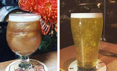 Cervejas com glitter.