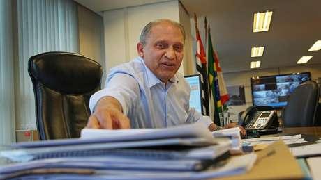 O secretário de Mobilidade e Transportes do município de São Paulo, Edson Caram