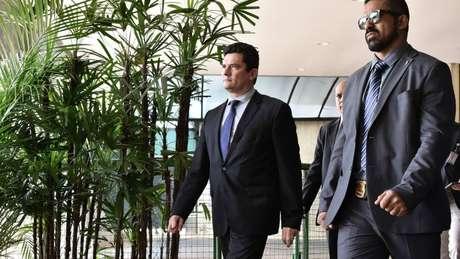 Sérgio Moro (centro) dizia querer ampliar capacidade do Coaf para combater organizações criminosas