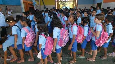 Alunos da Casa Meio Norte em foto de arquivo; a despeito de condições adversas, escola pública conseguiu que 100% de seus alunos do 5º ano tivessem aprendizado adequado de matemática e português
