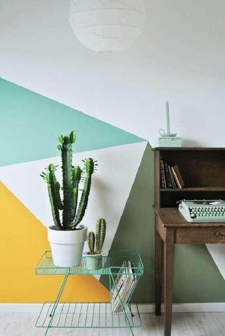 19. Paredes coloridas é uma boa dicas de decoração barata – Foto: Pinterest