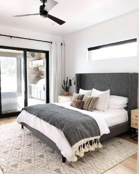 23. Roupa de cama são dicas de decoração de quarto muito importantes – Foto: Pinterest