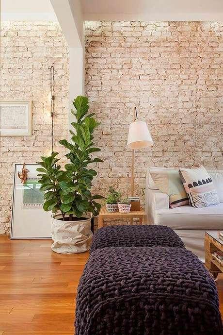 38. A escolha de revestimentos para casa faz toda a diferença nas dicas de decoração – Foto: Casa Très Chic