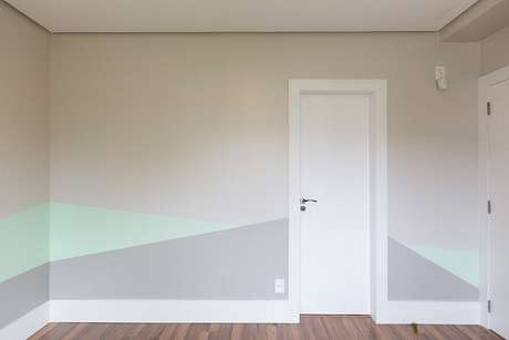 52. Dicas de decoração para casa com parede colorida – Foto: Petrópolis Construções