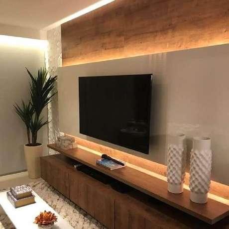 58. Um bom projeto de iluminação faz toda a diferença nas dicas de decoração para sala – Foto: Pinterest