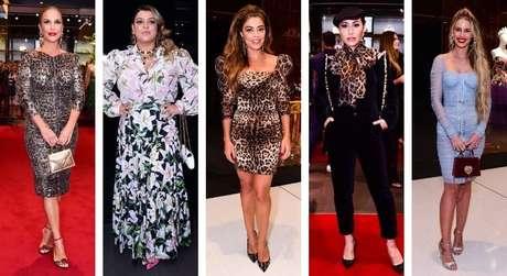Famosas em evento da Dolce & Gabbana (Fotos: Leo Franco/AgNews)