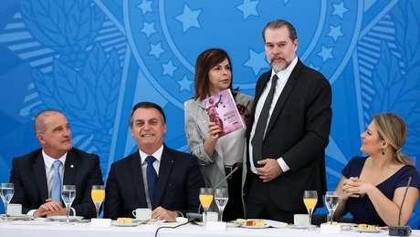 Ministro Dias Toffoli em café da manhã com lideranças do governo
