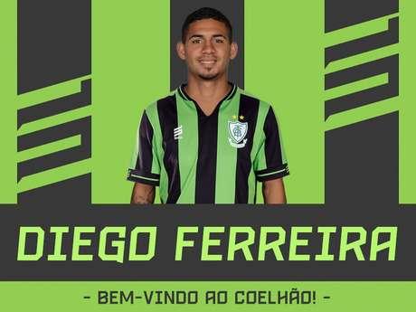 Diego vai disputar a posição na direita com Leandro Silva, atual titular- (Divulgação/América-MG)