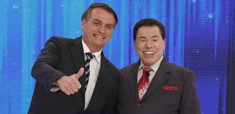 Bolsonaro e Silvio Santos: afinidades geraram amizade entre o presidente e o comunicador