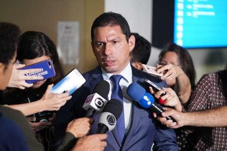 Presidente da comissão especial da reforma da Previdência, dep. Marcelo Ramos (PR - AM) concede entrevista