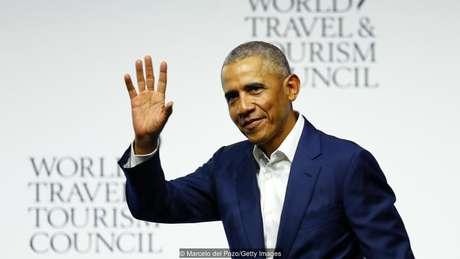 Obama participou de uma sessão de perguntas e respostas durante a cúpula global do Conselho Mundial de Viagens e Turismo, na Espanha