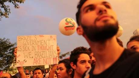 Protestos refletiram divergências dentro da esquerda