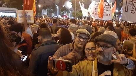 Alguns manifestantes usaram os protestos para destacar a situação jurídica e política do ex-presidente Lula