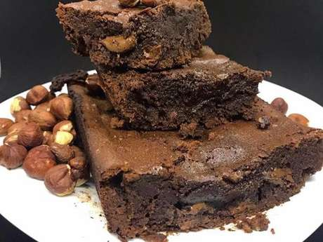 Brownie de avelã fit