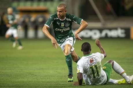Mayke do Palmeiras durante partida entre Palmeiras x Sampaio Corrêa, válida pela oitavas da Copa do Brasil 2019, realizada no Allianz Parque em Sao Paulo, SP.