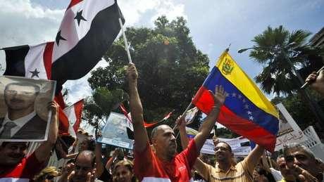 """O presidente sírio diz que o que acontece na Venezuela é """"semelhante"""" ao que acontece na Síria"""