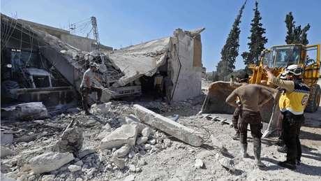 A guerra deixou províncias inteiras da Síria devastadas