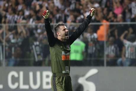 Goleiro Victor durante a partida entre Atlético MG e CSA AL, válida pelo Campeonato Brasileiro 2019, no Estádio Independência em Belo Horizonte (MG), neste domingo (02)