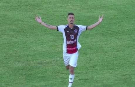Zizu fez o gol da vitória do Atlético-CE (Foto: Reprodução/FCFTV)