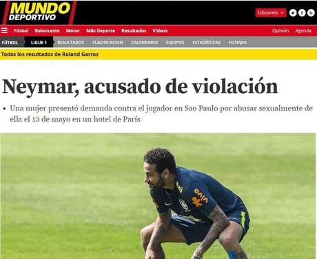 Neymar, acusado de estupro