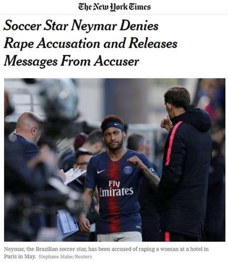 Estrela de futebol Neymar nega acusação de estupro e libera mensagens