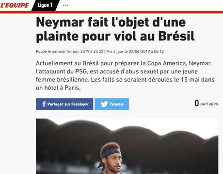 Neymar é alvo de queixa de estupro no Brasil